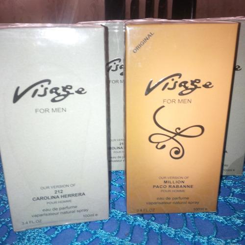 perfumes damas y caballeros 100ml visage/precious secrtes