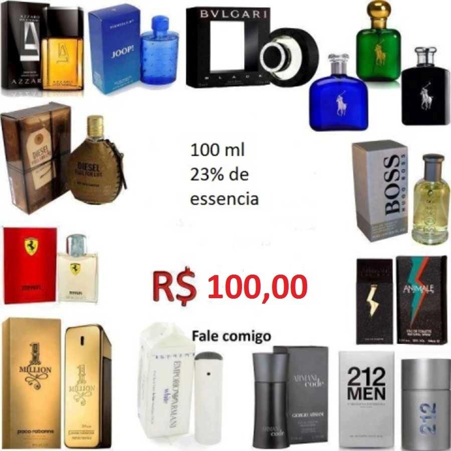 Perfumes Importados Nacionais 100ml Baratos E De Qualidade! - R  75 ... b63bc2cef4