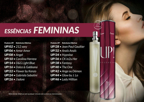 perfumes importados up! essência
