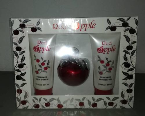 perfumes originales apple 3.4 oz perf+locion+gel jabonoso