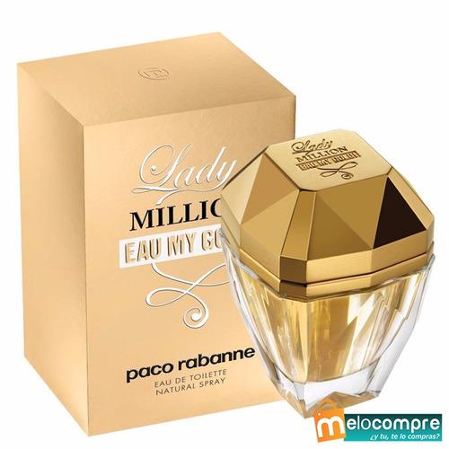 perfumes originales lady million eau my gold dama splash