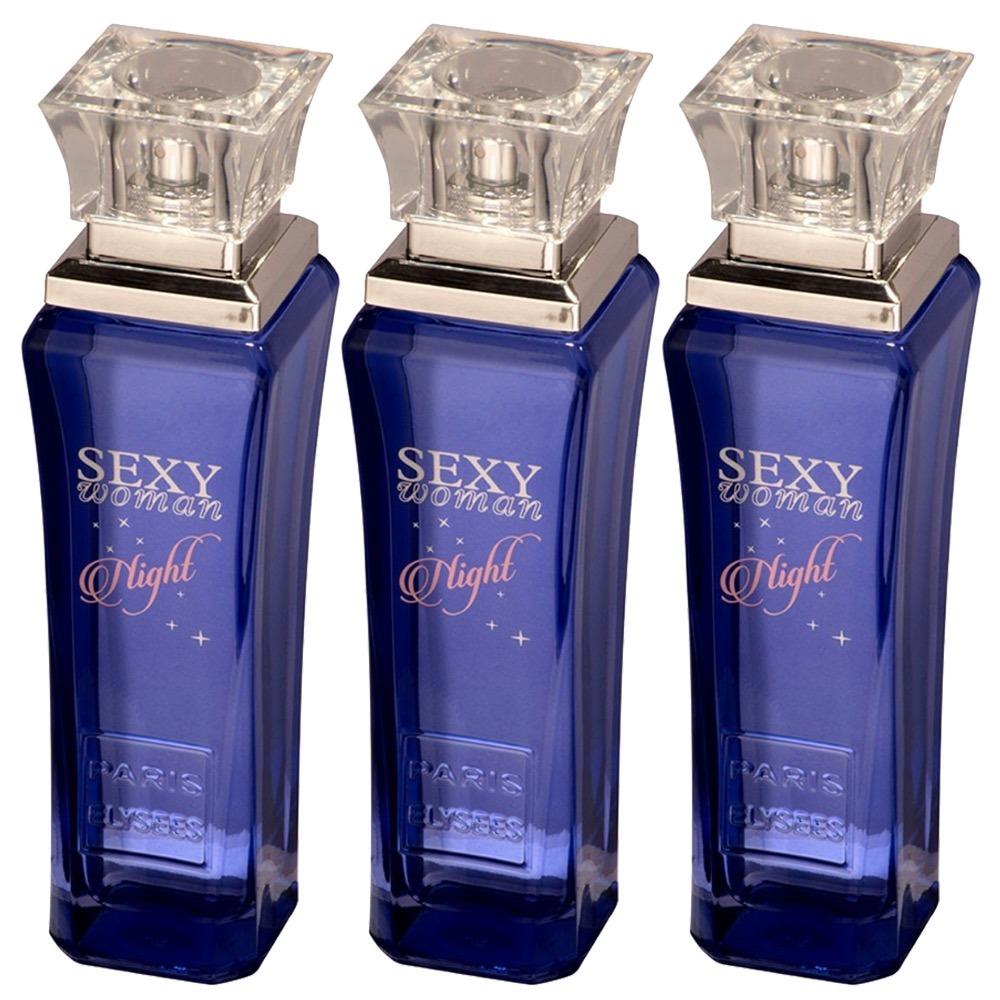 aa4f2bca3 3 Perfumes Sexy Woman Night Paris Elysees 3x100ml Original - R  119 ...