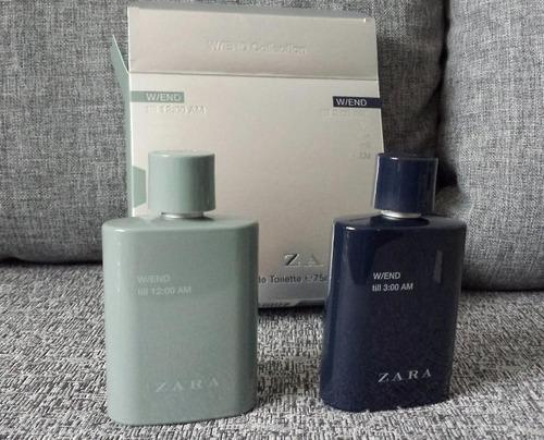 perfumes zara parfum zara w/end 3 am (kit com 2)