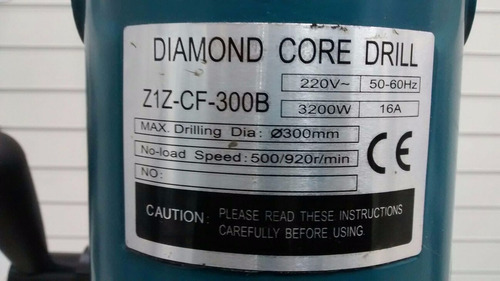 perfuratriz de laje furadeira concreto 300mm + frete
