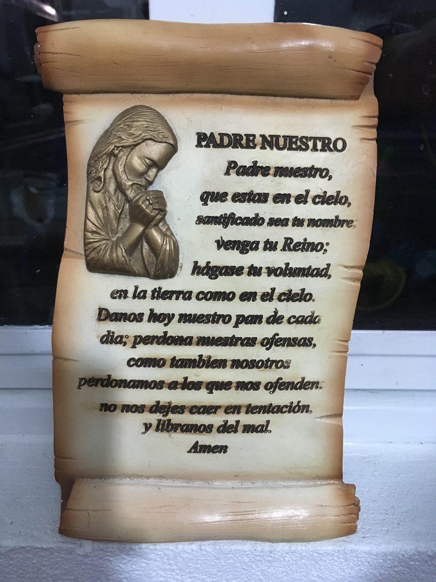 Pergamino Padre Nuestro 21x13 Cm De Resina - $ 350.00 en