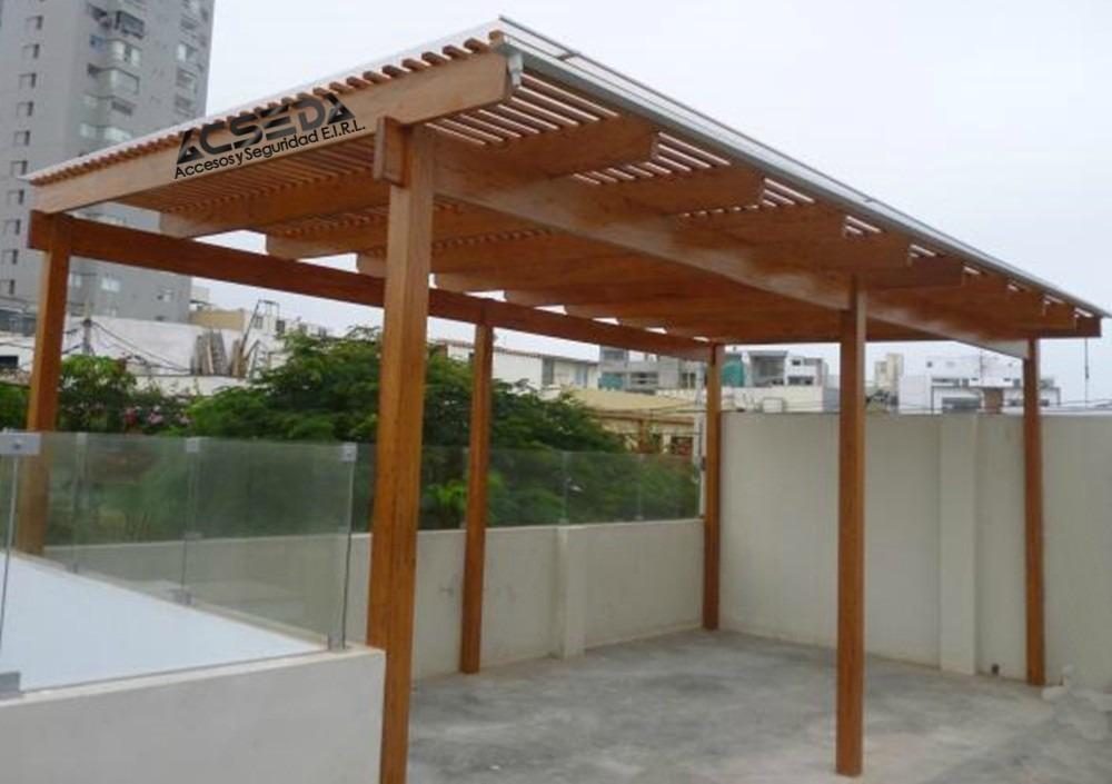 Pergola de madera para terraza y casa de playa s 200 00 - Pergolas de madera para terrazas ...