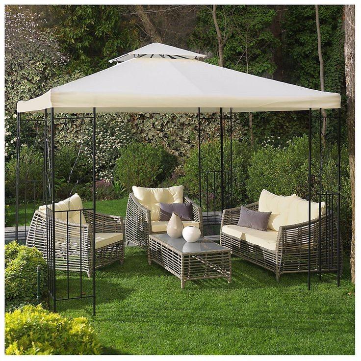 Pergola o toldo estructura impecable lona gastada oferta for Estructuras de jardin