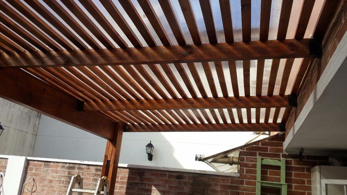 Pergolas cubiertas techos madera dise o instalacion toldos - Techos para pergolas de madera ...