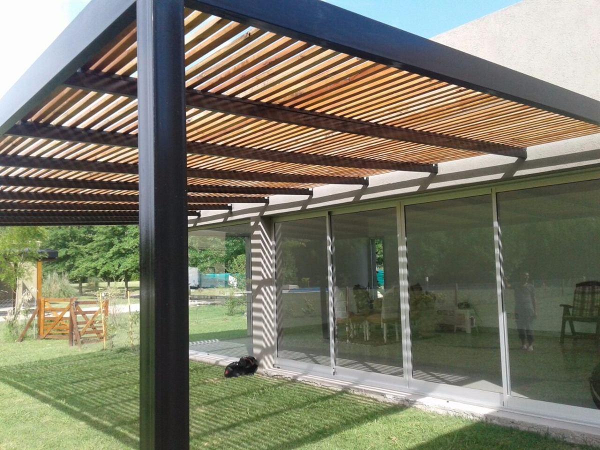 Estructuras de hierro para pergolas perfect estructuras de hierro para pergolas with - Pergola de madera ...