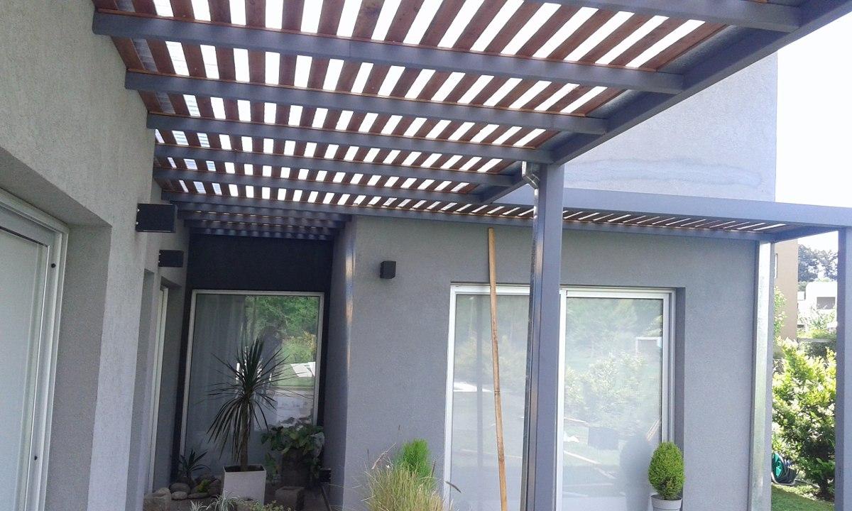 Pergolas de hierro fotos cheap columna de hierro para - Accesorios para pergolas ...