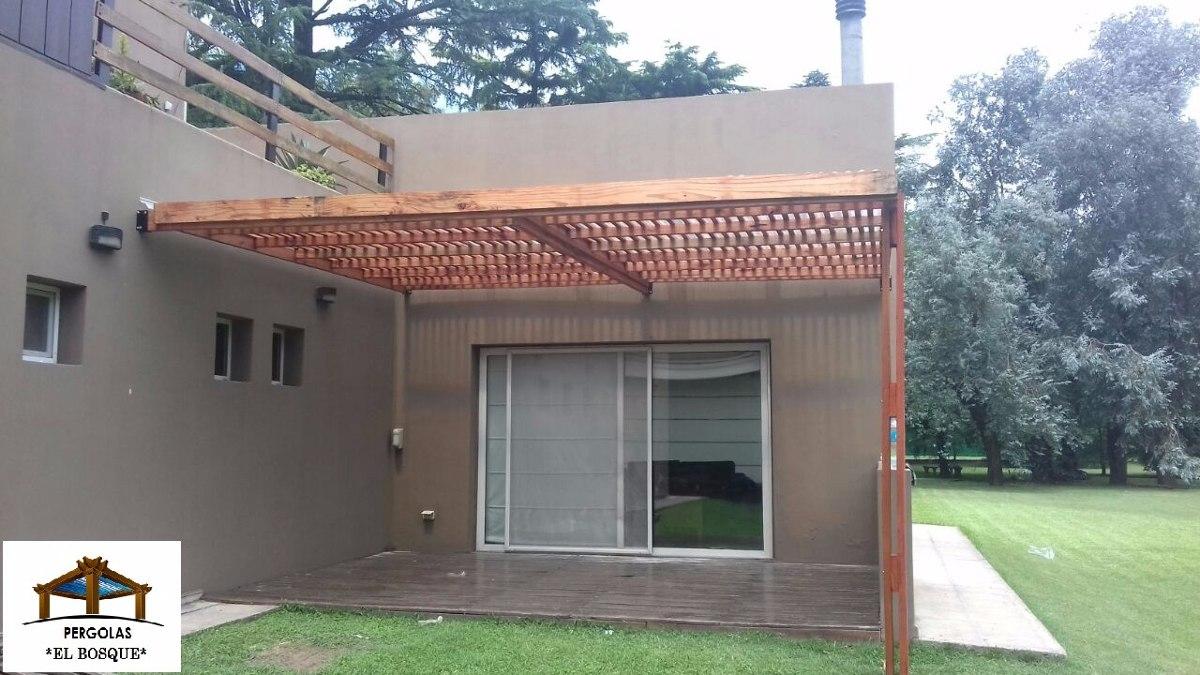 Pergolas de madera con colocacion cerramientos garajes - Pergolas el bosque ...
