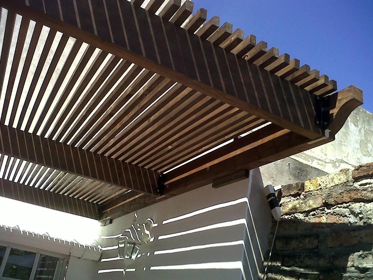 amazing design pergolas de madera color caoba techos para pergolas de madera with techos para pergolas de madera - Techos Para Pergolas