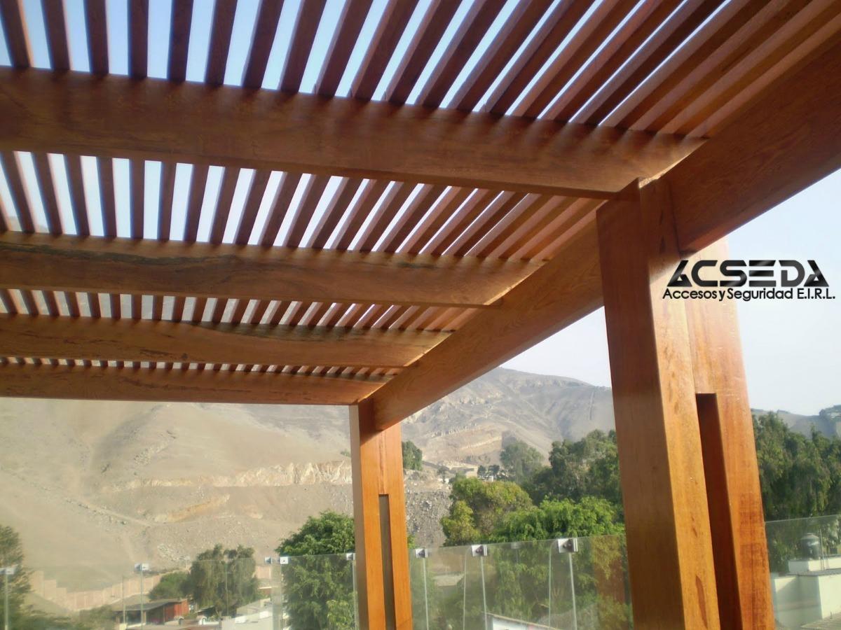 Pergolas de madera para piscinas y terrazas s 150 00 en for Pergolas para piscinas