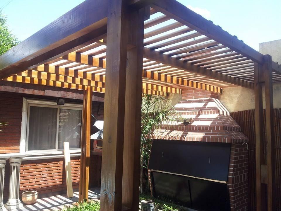 Pergolas De Madera Techos Quincho Jardin - $ 1.580,00 en Mercado Libre