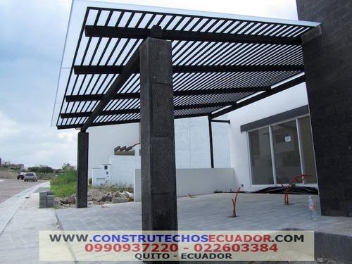 pergolas de metal con policarbonato techos corredizos domos