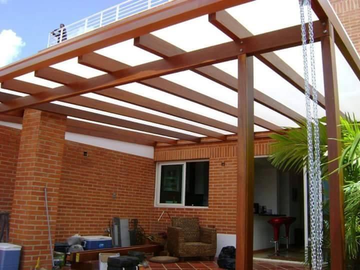 Cubiertas para patios exteriores techo para parrilla for Techos para patios exteriores