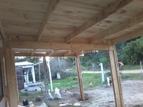 pergolas en madera. isopanel construccion rapida y economica
