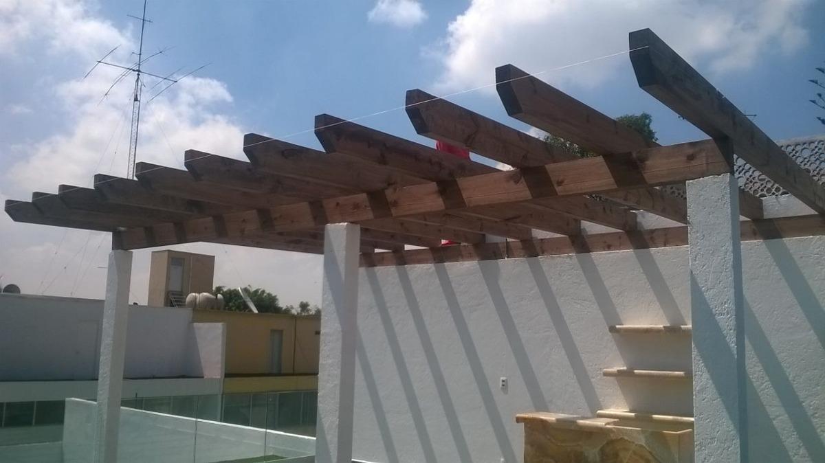 pergolas de madera suspendidas