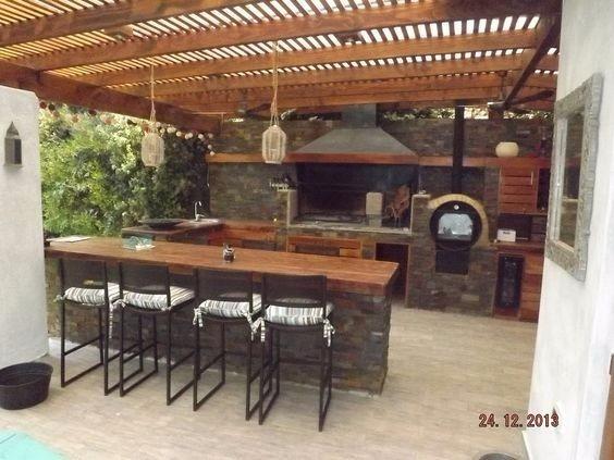 Pergolas madera decoracion terrazas madera teca pino decks for Cocinas en terrazas
