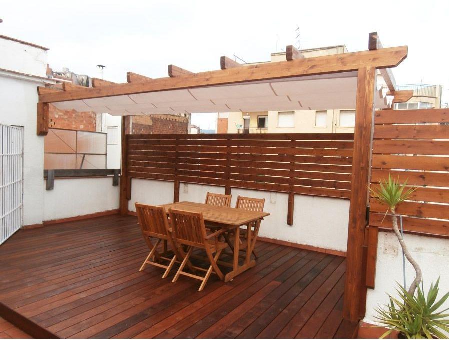 Pergolas madera decoracion terrazas madera teca pino decks en mercado libre - Terrazas con pergolas de madera ...