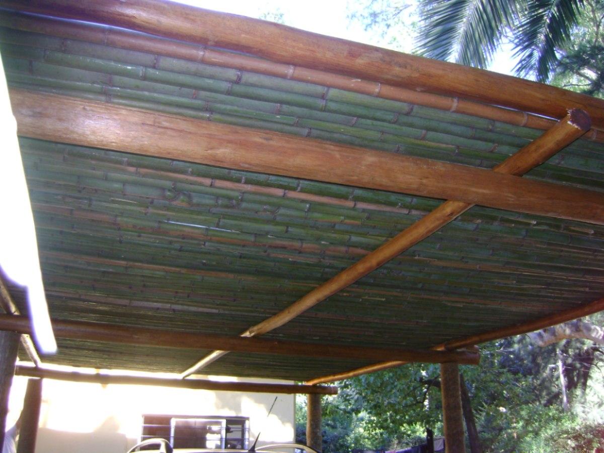 Pergolas madera dura madera redonda quinchos sombrillas - Techo para pergola ...