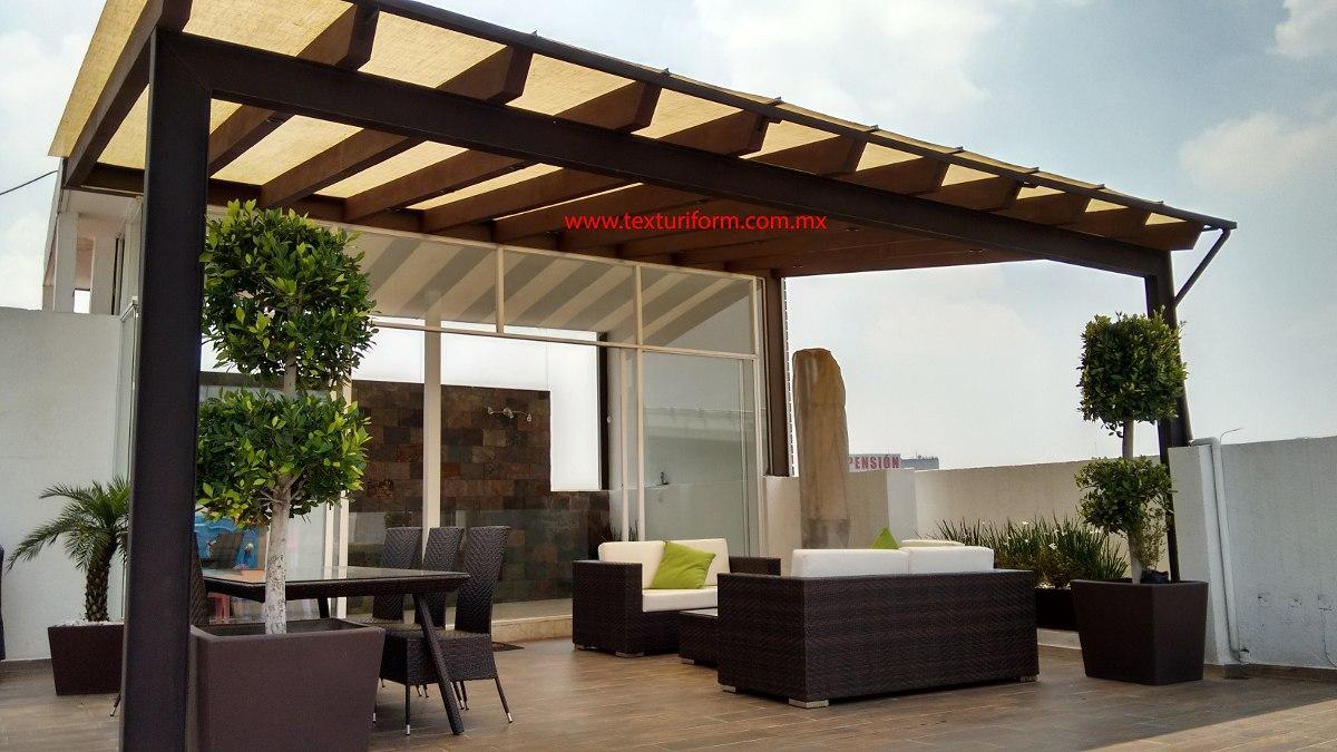 Pergolas roof garden terraza jard n 3 en mercado libre - Pergolas baratas para jardin ...