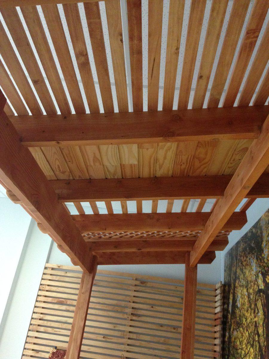 Pergolas terrazas y cobertizos en mercado libre for Cobertizo de madera tratada