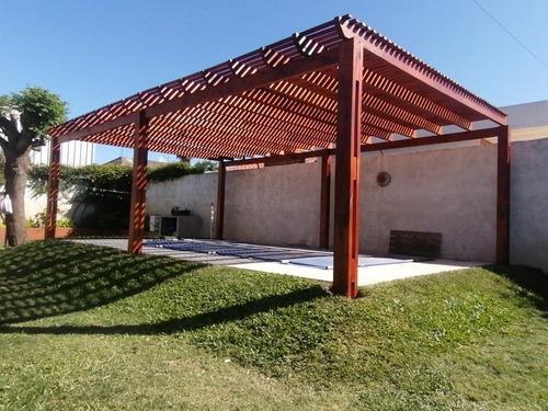pergolas y techos en hierro y madera,policarbonato y zinc