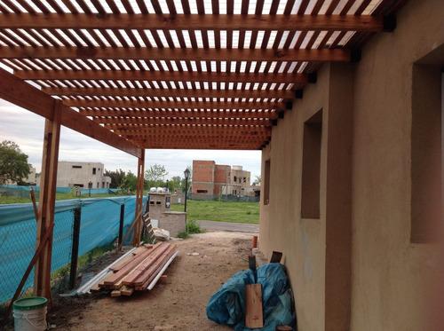 pergololas cocheras galerías espacios techados al aire libre