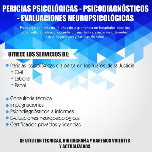 pericias psicológicas - psicodiagnósticos - evaluaciones nps