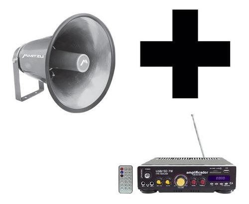 perifoneo megafonia amplificador bocina 16 pulgadas 100w