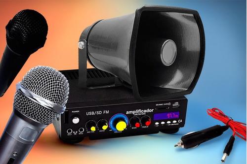 perifoneo pack combo con amplificador 1 trompeta wow........
