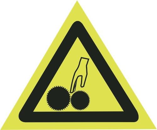 perigo maquina em movimento (pvc - 0,8 mm, 30 x 30)