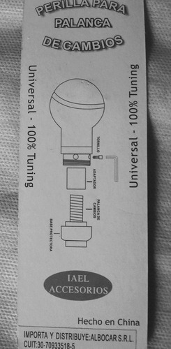 perilla bocha palanca universal de aluminio para gatillo