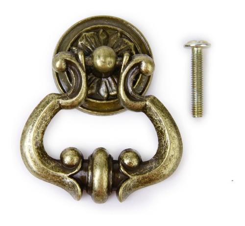 perilla de puerta cajón armario gabinete d/bronce antiguo 6u
