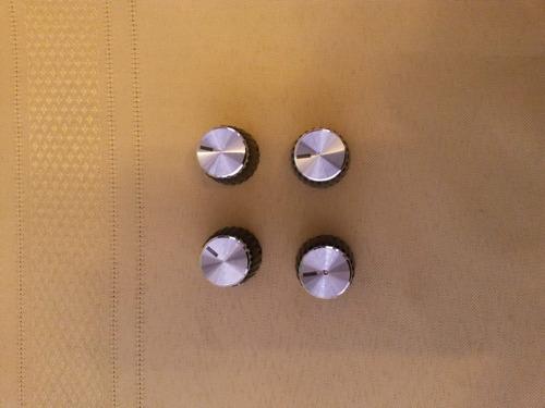 perilla para amplificador marshall plateada, plata.