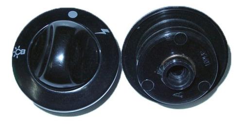 perilla para cocina domec 2003 negra encendido y luz c/aro