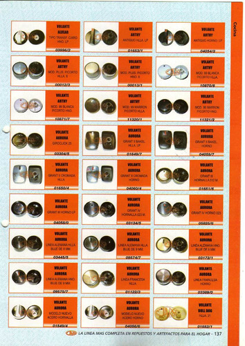 perilla volante arthy antiguo hlla.lp  art.01653/1
