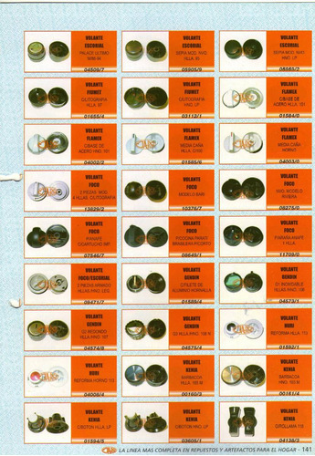 perilla volante flamex art.04002/2 c/base acero hno.101
