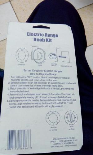 perillas universales de cocina eléctrica frigidaire, solé,k