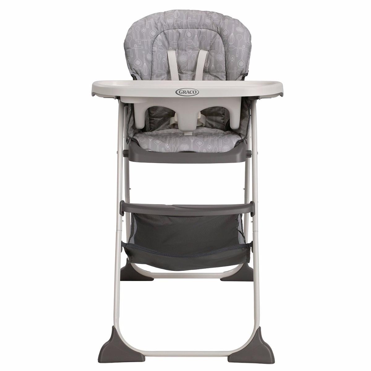 Periquera reclinable silla alta sillita comer bebe graco for Silla mecedora graco 6 velocidades