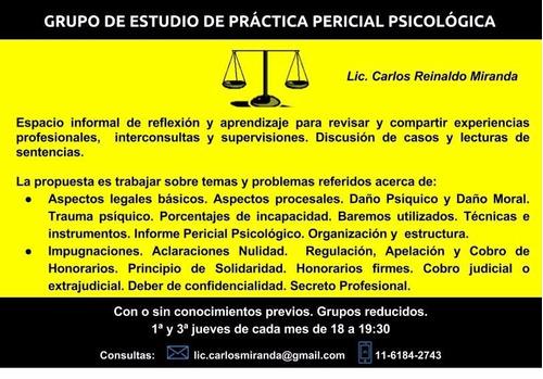perito psicólogo -  psicodiagnostico- supervisiones - cursos