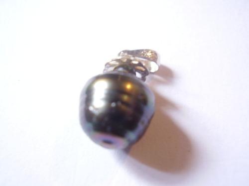 perla colgante plata