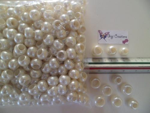 perlas de hueco grande pulseras, collares, bisutería