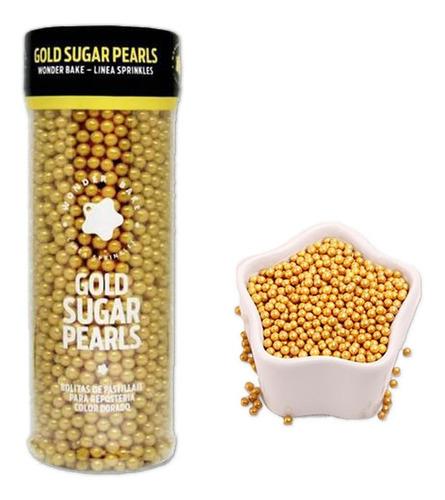 perlas doradas comestibles para reposteria wonder bake 130gr