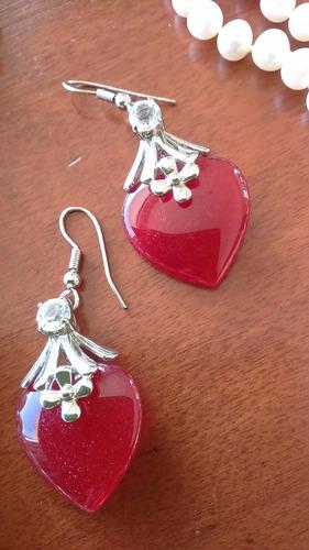 f4f9a84ff1d8 Conjunto De Collar Y Aros De Perlas De Rio Y Piedra De Jade ...