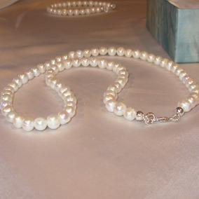 54f147651985 Collar Perla Blanca - Cadenas y Collares en Mercado Libre Argentina