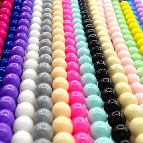 perlas opaca surtidas 6 mm bijou souvenir x 5 tiras