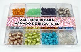 90f27ea6a2a2 Perlas Ovaladas De Vidrio En Caja Acrílico - Para Bijou