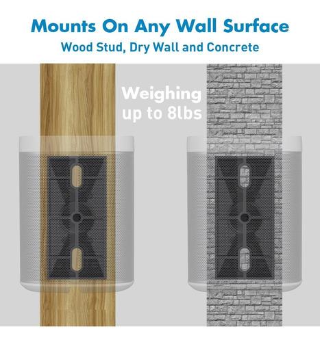 perlesmith soportes de altavoz - soportes de pared universal